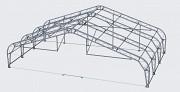 Каркасно-тентовый ангар (навес), сборно-разборное сооружение, для самолета Харьков