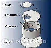 Железобетонные и бетонные кольца. Колодцы и сливные ямы в Новомосковске Новомосковск