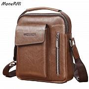 Мужская кожаная сумка Weixier Коричневая A7963200-1 Полтава