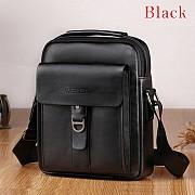 Мужская кожаная сумка Weixier Чёрная A7963200-2 Полтава