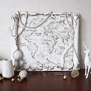 Барельеф Древняя карта мира КР 913 золото Хмельницкий